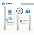 company advertisement banner with stationary vector image