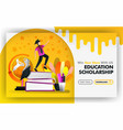 concept yellow banner website about educational vector image vector image