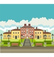 Country house with park vector image vector image