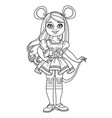 cute girl in carnival costume mouse or rat vector image vector image