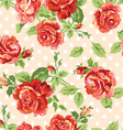Fancy roses dotty cream background vector | Price: 1 Credit (USD $1)