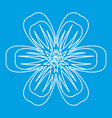 flower icon outline style vector image vector image