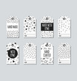 gift tags and cards set with memphis elements vector image vector image