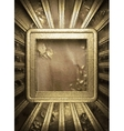 gold and paper background vector image