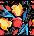 Graphics floral bright pattern