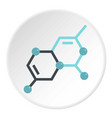 group of atoms forming molecule icon circle vector image vector image