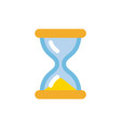 hourglass icon simple flat style sandglass vector image vector image