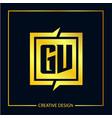 initial letter gv logo template design vector image