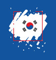 korea republic brush logo template design vector image vector image