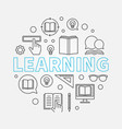 learning round in thin line vector image vector image