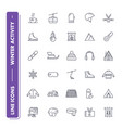 line icons set winter activity vector image vector image
