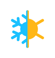 logo of symbol climate balance isolated on white vector image