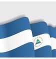 Nicaraguan waving Flag vector image vector image