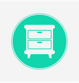 nightstand icon sign symbol vector image vector image
