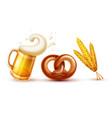 octoberfest symbols beer vector image vector image