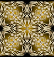 ornate gold 3d paisley seamless pattern abstract vector image vector image