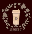 paper coffee cup mug vector image vector image