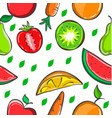 pattern of fruit colorful style vector image vector image