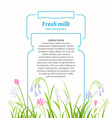 Poster for sale of fresh natural milk and dairy vector image vector image