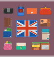 purse wallet with money shopping buy business vector image vector image