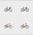 realistic cyclocross drive competition bicycle vector image vector image