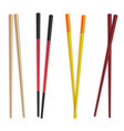realistic detailed 3d food chopsticks set vector image vector image