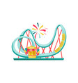 roller coaster and small ticket booth extreme vector image vector image