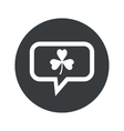 Round clover dialog icon vector image vector image
