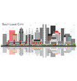 salt lake city utah city skyline with gray vector image