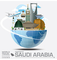 Saudi Arabia Landmark Global Travel And Journey vector image vector image