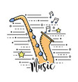 saxophone musical instrument to play music vector image vector image