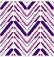 seamless pattern with watercolor ethnic zigzag vector image vector image