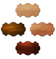Set of wooden signboard from boards vector image vector image