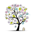 shopping bag tree vector image vector image