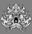 skull line thai vector image