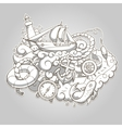 Summer sailing abstraction colorless vector image vector image