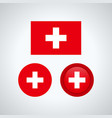 swiss trio flags vector image vector image