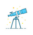 telescope and stars modern line vector image vector image