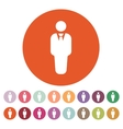 The business man icon Avatar and user men vector image vector image