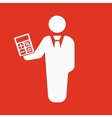 The financier avatar icon Bank employee and vector image vector image