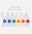 timeline infographic business template horizontal vector image