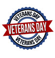 veterans day label or sticker vector image vector image
