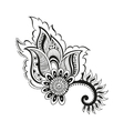 zentangle boho flower vector image vector image