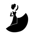 flamenco dancer icon black vector image