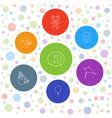 7 joy icons vector image vector image