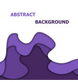 abstract background with violet paper cut vector image vector image