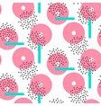 abstract circles bright seamless pattern vector image vector image