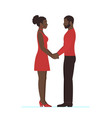african female and african male couple in love vector image