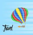 air balloon icon on the sky travel concept vector image