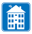 Apartment house button vector image